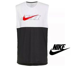 Nike Mens Training Hyperdry Dri-Fit Energy White Vest Tank Top Sleeveless Tee