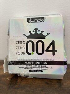 OKAMOTO 004 Condoms 22 Open Box count White