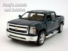Chevy Silverado (2014) LTZ Crew Cab 4x4 1/46 Scale Diecast Metal Model - GREEN