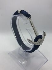 Rolex Submariner Silver Anchor Bracelet on Navy Nylon Strap with Gift Pouch