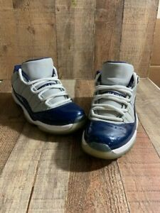 Nike Air Jordan XI 11 Retro Low Georgetown Navy Gray - Men's Size 8 (528895-007)