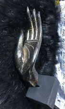 THAI AMULET VINTAGE ART BUDDHA HAND WOOD HAND CARVED FIGURE STATUE FLYING