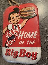 Big Boy Burger Embossed Metal Sign Home of the Big Boy Diner