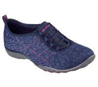 NEU SKECHERS Damen Sneakers Slipper Memory Foam BREATHE-EASY JUST CHILLIN' Blau