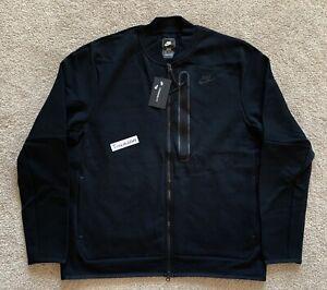 New! Nike Sportswear Tech Fleece Bomber Jacket XLT Black NSW CZ1797 010
