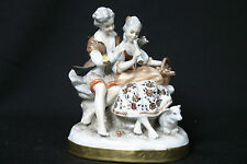 Ensemble de personnages de Saxes / Pair of figures of Saxe, Porcelain Scheib
