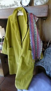 """CRAQUANT  MANTEAU NEUF OVERSIZE VELOURS  """" MADE IN ITALY  """"+1  étole offerte !"""