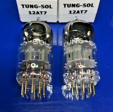 Two Excellent TUNG-SOL 12AT7 Tubes NOS Match Date Codes Test at 100% + TV-7