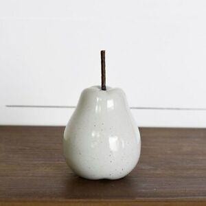 Light Grey Porcelain Pear Figure