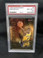1996-97 NBA Hoops Kobe Bryant RC Rookie Card SP Lakers #3 of 30 PSA 8.5-D00