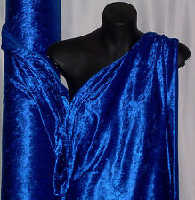 ROYAL BLUE  CRUSHED PANNE VELVET FABRIC:  $6.99 per metre