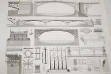 GRAVURE 1851 PONTS OUVRAGES D'ART-GEORG HECK WINKLES (HK-17)