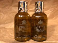 """MOLTON BROWN LONDON """"TOBACCO ABSOLUTE"""" BATH & BODY WASH GEL (1.7oz x 2)  NEW"""