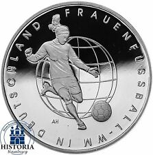 Deutschland 10 Euro Frauenfussball WM 2011 Silber-Gedenk-Münze Spiegelglanz