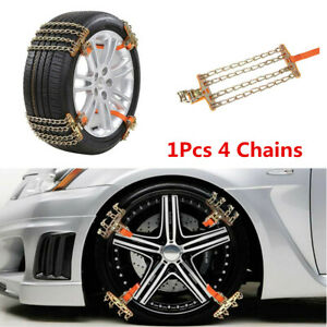 205--225mm Wheel Tire Snow Anti-skid Chains for Car Truck SUV Emergency Winter