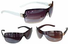 Sonnenbrille Damenbrille mit Strasssteinen Aviator Brille Monoglas Trendy M 33