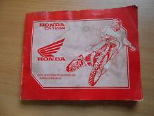 Manual de mantenimiento del propietario instructieboekje HONDA CR 125 R