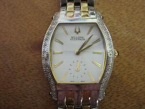 box 035 ladys  stainless steel 24 diamond accutron saleya 65r102  watch bracelet