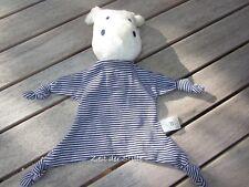TOPOLINO TOPOMINI Schmusetuch Kuscheltuch Nilpferd Hippo blau weiß
