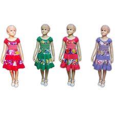 Festliche Markenlose Kurzarm Mädchenkleider aus 100% Baumwolle