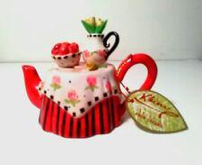 Miniature Collectable Khien Ceramic Tea Pot handmade in Thailand Decorative