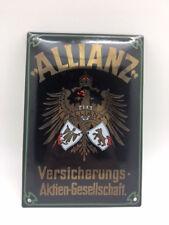 ALLIANZ Versicherungs-Aktien-Gesellschaft Emailleschild 17 x 25 cm
