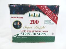 Everglow Super Bright Miniature Clear Christmas Lights 200 ct (2 x 100 ct)
