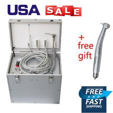 New Listingdental Portable Delivery Mobile Treatment Unit Siutcase Suction Air Compressor