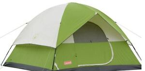 6 Person Sundome EasySetup Tent Outdoor Camping Green White