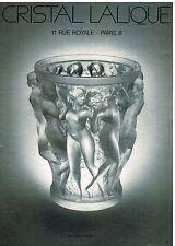 Publicité Advertising 1982 Cristal lalique le Vase modèle Bacchantes