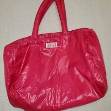 Vintage 80s LaTique Puffy Pack Hot Pink Duffle Bag~ Gym Bag