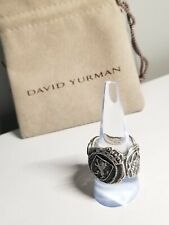 David Yurman Silver Shipwreck Signet Coin Men's Ring  Sz 10
