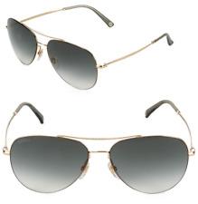 GUCCI GG 2245/S Aviator Gold Metal Sunglasses J5G9K Grey Green Gradient Lenses