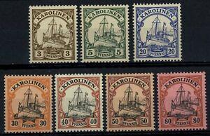 Germany Caroline Islands 1901-10, 7 MNH Stamps #E30657