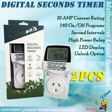 2Pcs Digital Seconds Timer Hydroponic Heavy Duty Timer Interval Build in battery