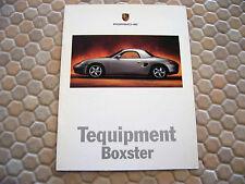 PORSCHE OFFICIAL BOXSTER TEQUIPMENT ACCESSORIES BROCHURE 1998 USA EDITION