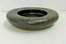 New listing Volcanic Pottery Brush Washer Japanese Chinese Vintage Raku Bowl Ikebana Mark