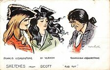 "POSTCARD  COMIC    SKETCHES  FROM  SCOTT       "" Rob  Roy  """