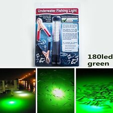 Underwater Fishing Lamp 180led Waterproof Boat Light Squid Prawn Green Light