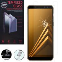 """Lot/ Pack Film Verre Trempe Protecteur pour Samsung Galaxy A8 (2018) A530F 5.6"""""""