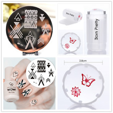 3Pcs BORN PRETTY Negative Space Nail Art Stamp Image Plate Stamper Scraper Kit