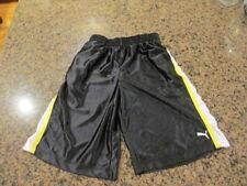 PUMA XL boys girls Basketball athletic Shorts blue white elastic waist gym sport