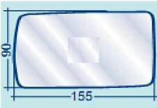 ALFA ROMEO 155 VETRO SX PIANO AZZURRATO PER RETROVISORE ESTERNO COD 700/30027
