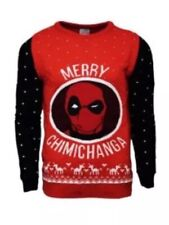 Small Deadpool Merry Chimichanga - Christmas Xmas jumper / sweater by Numskull