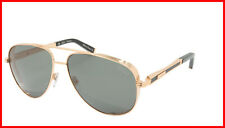 ZILLI Sunglasses Titanium Acetate Leather Polarized France Handmade ZI 65028 C01