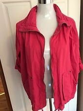Size 18 Spring Summer Cotton Pink 100% Cotton Utility/ Bomber Active Jacket