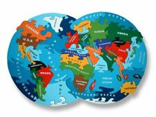 Map Of The World - Wooden Jigsaw Puzzle - Chunky, Bright & Educational - 39x26cm