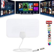 Antena de TV HDTV Flat HD Digital Interior Amplificado 50Mile Range VHF UHF DVB