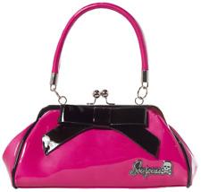 Sourpuss Super Floozy Fushia Pink & Black Purse Retro Pinup Rockabilly Handbag
