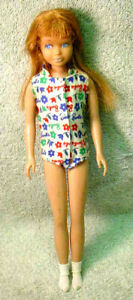 1963 Barbie Skipper Doll Red Hair Barbie's Little Sister w/ Orig Outfit